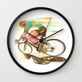 The Sprinter, Cycling Edition Wall Clock