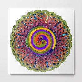 Spirals Celtic Knot Mandala Metal Print