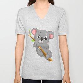 Koala Bear Hugging Tree Animal T Shirt Unisex V-Neck