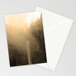 Foggy Multnomah Falls Stationery Cards