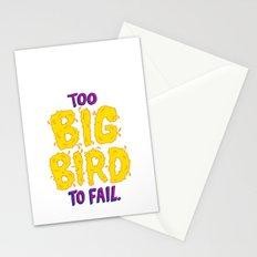 TOO BIG BIRD TO FAIL Stationery Cards