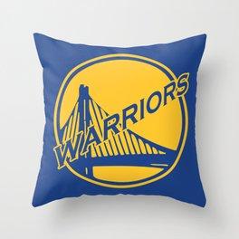 Golden State blue basketball logo Throw Pillow