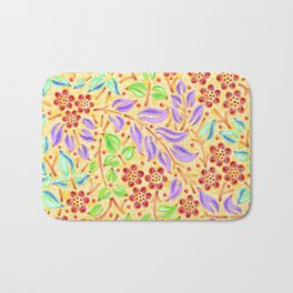 Sunshine Filigree Floral Bath Mat