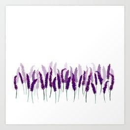 Lavender Field | Purple Flowers in Watercolor Art Print