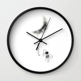 Moon Astronaut Outer Space Explorer Rocket Science Wall Clock