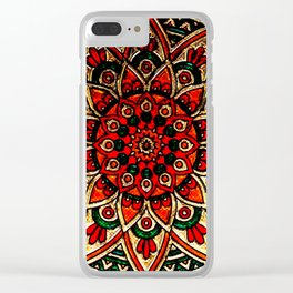 Mandala Art Clear iPhone Case
