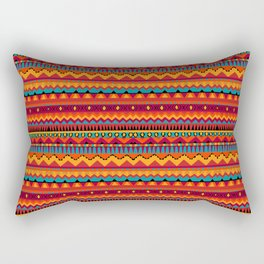 Native Aztec Print Rectangular Pillow