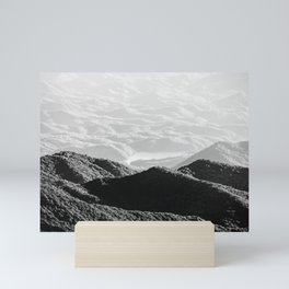 Smoky Mountain Black and White Forest Sunset - 125/365 Mini Art Print