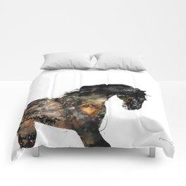 Horse portrait (Distant Galaxy) Comforters