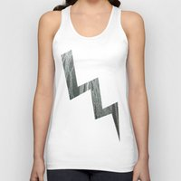 lightning Tank Tops featuring Lightning  by Ethna Gillespie