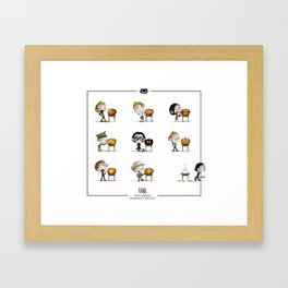 Little Halloween Pumpkin Contest Framed Art Print