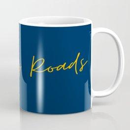 Country Roads West Virginia Cursive Text Print Coffee Mug
