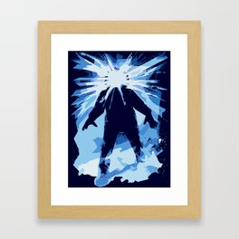 Man is the warmest place to hide ... Framed Art Print