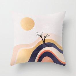 The Flowing Golden Desert Throw Pillow