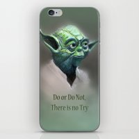 yoda iPhone & iPod Skins featuring Yoda by Big Tortoise Art (Art by JasonKoelliker)