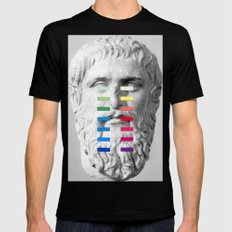 Sculpture With A Spectrum 1 Black MEDIUM Mens Fitted Tee