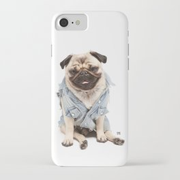 Helmut the Pug - Jean Jacket iPhone Case