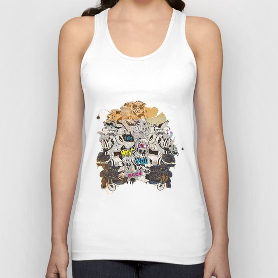 Drawing Collage #03 Unisex Tank Top