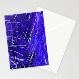 Periwinkle Blue Feather Boa Close-up With Silver Accents Stationery Cards