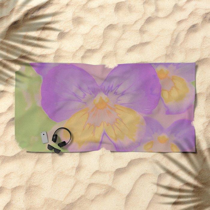 Pansies, The Earth Laughs In Flowers Beach Towel
