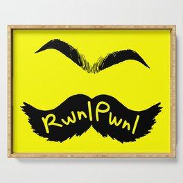 RwnlPwnl Mustache Serving Tray