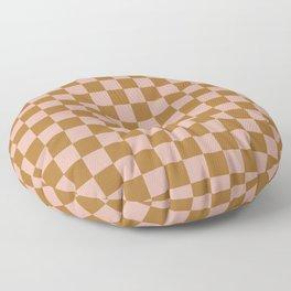 Clay Check Floor Pillow