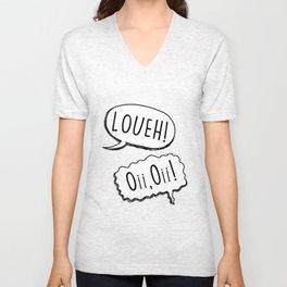 """Loueh! Oi, oi!"" - light blue Unisex V-Neck"