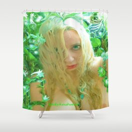 Nude sexy blond wet fairy wood nymph lady kashmir  Shower Curtain