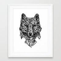hunter Framed Art Prints featuring Hunter by René Campbell