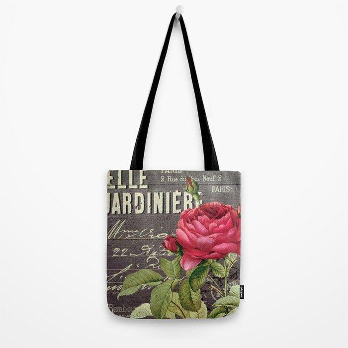 Vintage red rose #2 Tote Bag