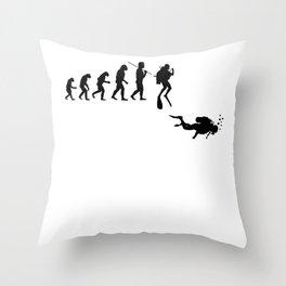 evolution scuba diving for men and women Throw Pillow