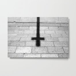 Religion is a 'No Loading at Any Time' road sign. Metal Print