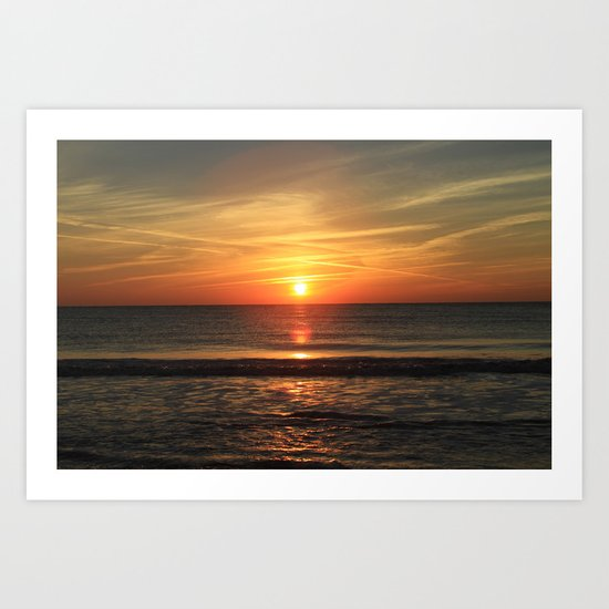 Clear Sunset Art Print