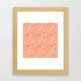 Intersecting Lines in Peach and Pink Framed Art Print