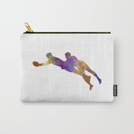 Rugby men players 03 in watercolor Carry-All Pouch