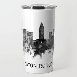 Baton Rouge Louisiana Skyline BW Travel Mug