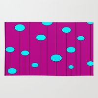 balloons Area & Throw Rugs featuring Balloons  by JuniqueStudio