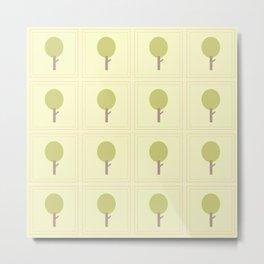 Hummingbird Hallow Collection -Green Tree Metal Print