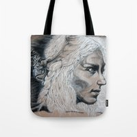 mother of dragons Tote Bags featuring Mother by Clayton Young