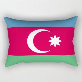 Azerbaijan flag emblem Rectangular Pillow