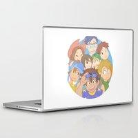 digimon Laptop & iPad Skins featuring Chosen Children by wattleseeds