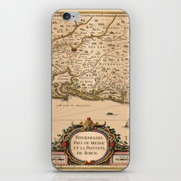 Map Of Bordeaux 1633 iPhone Skin