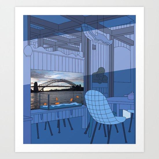 Sydney After Lunch Art Print