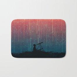 Meteor rain Bath Mat