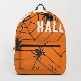 Happy Halloween Spider orange Backpack