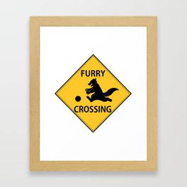 Furry crossing Framed Art Print