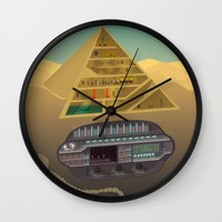 egypt Wall Clocks featuring Egypt by Xènia Castellví