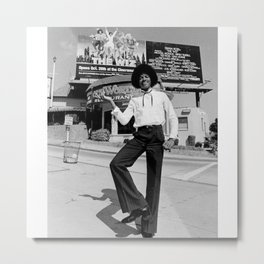 Young MJ The King - Hip Hop - R&B - Music - Legend - The Greatest Metal Print