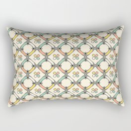 Retro linked geometric pattern Rectangular Pillow