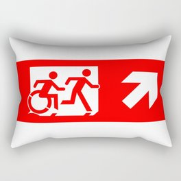 Wheelchair Disabled Exit Sign, with Accessible Means of Egress Icon Rectangular Pillow